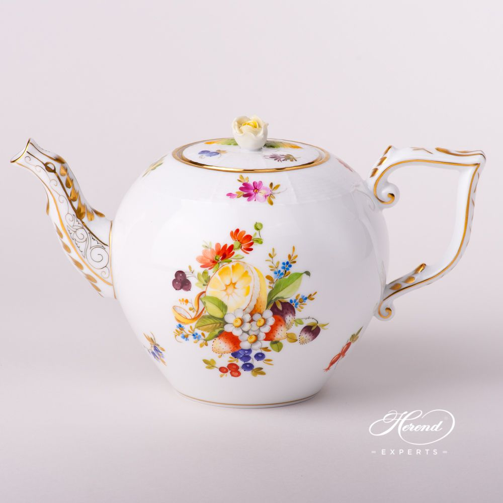 玫瑰壶纽茶壶  – 水果 – 赫伦细瓷