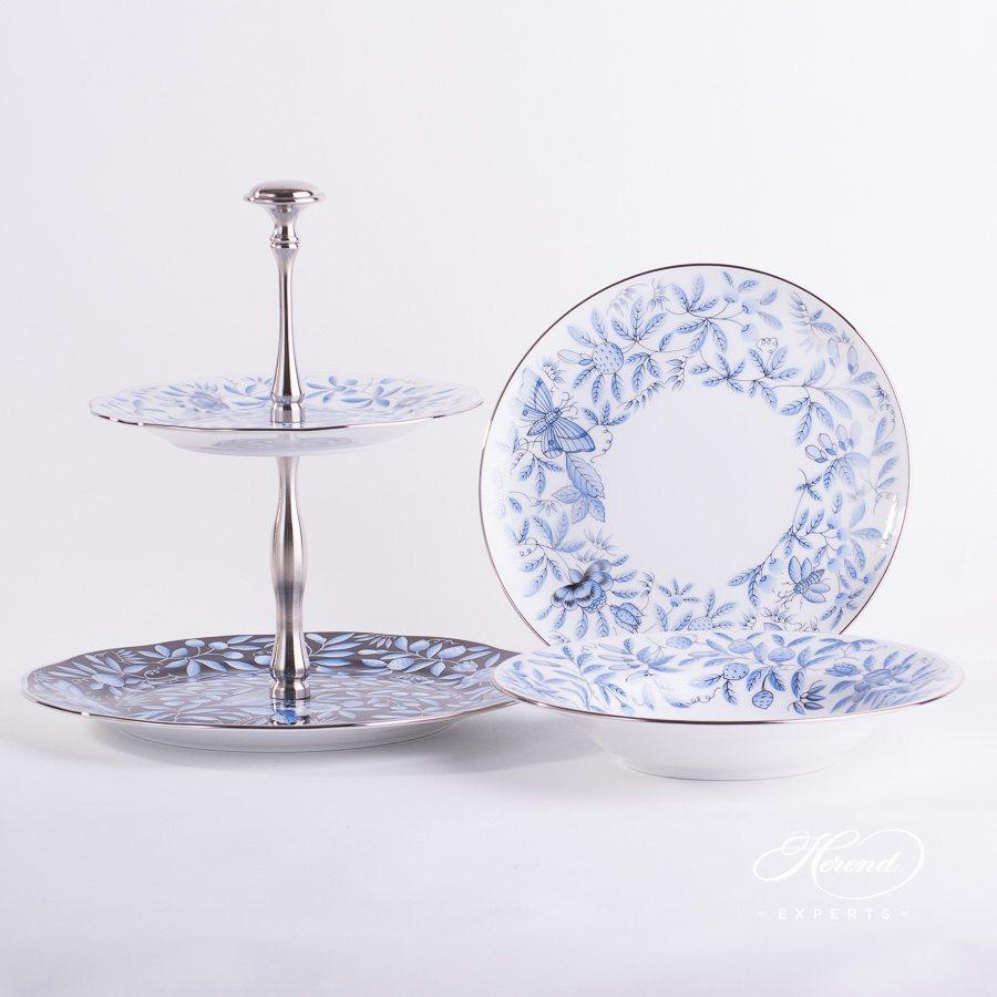 餐盘 – 动物园蓝色 – 赫伦细瓷