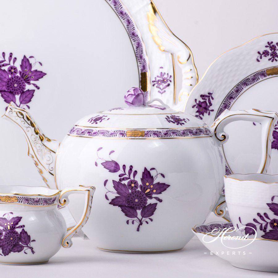 茶具套装 双人份 – 中国花束 / 阿波尼丁香色- 赫伦细瓷