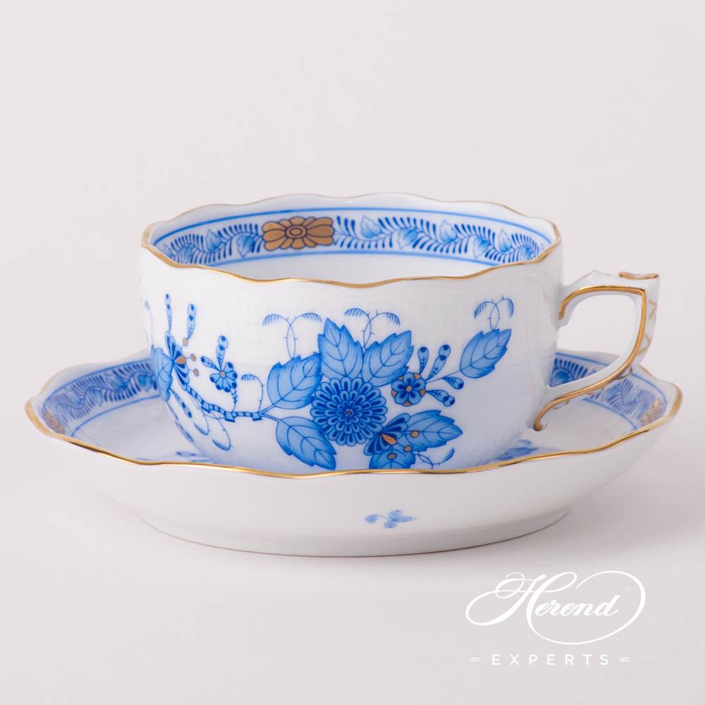 经典茶杯– 印度花篮蓝色- 赫伦细瓷