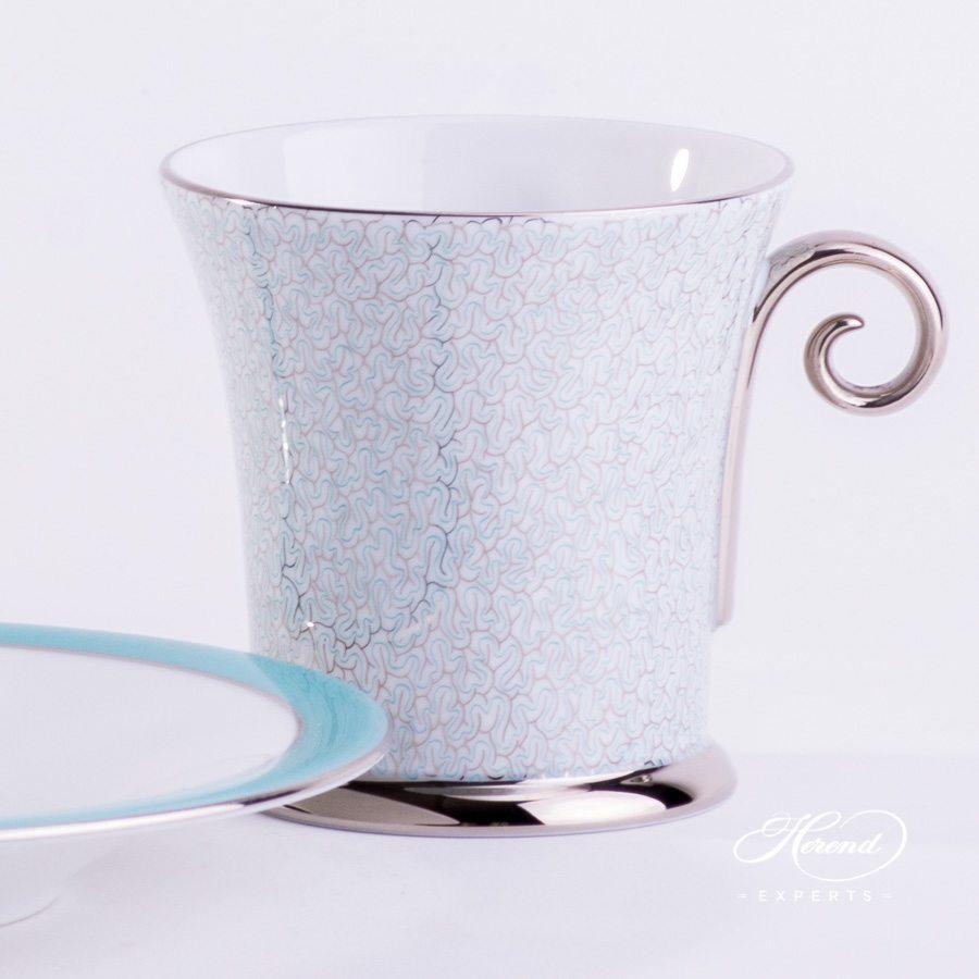 咖啡杯 – 玛瑙绿松石 – 赫伦细瓷