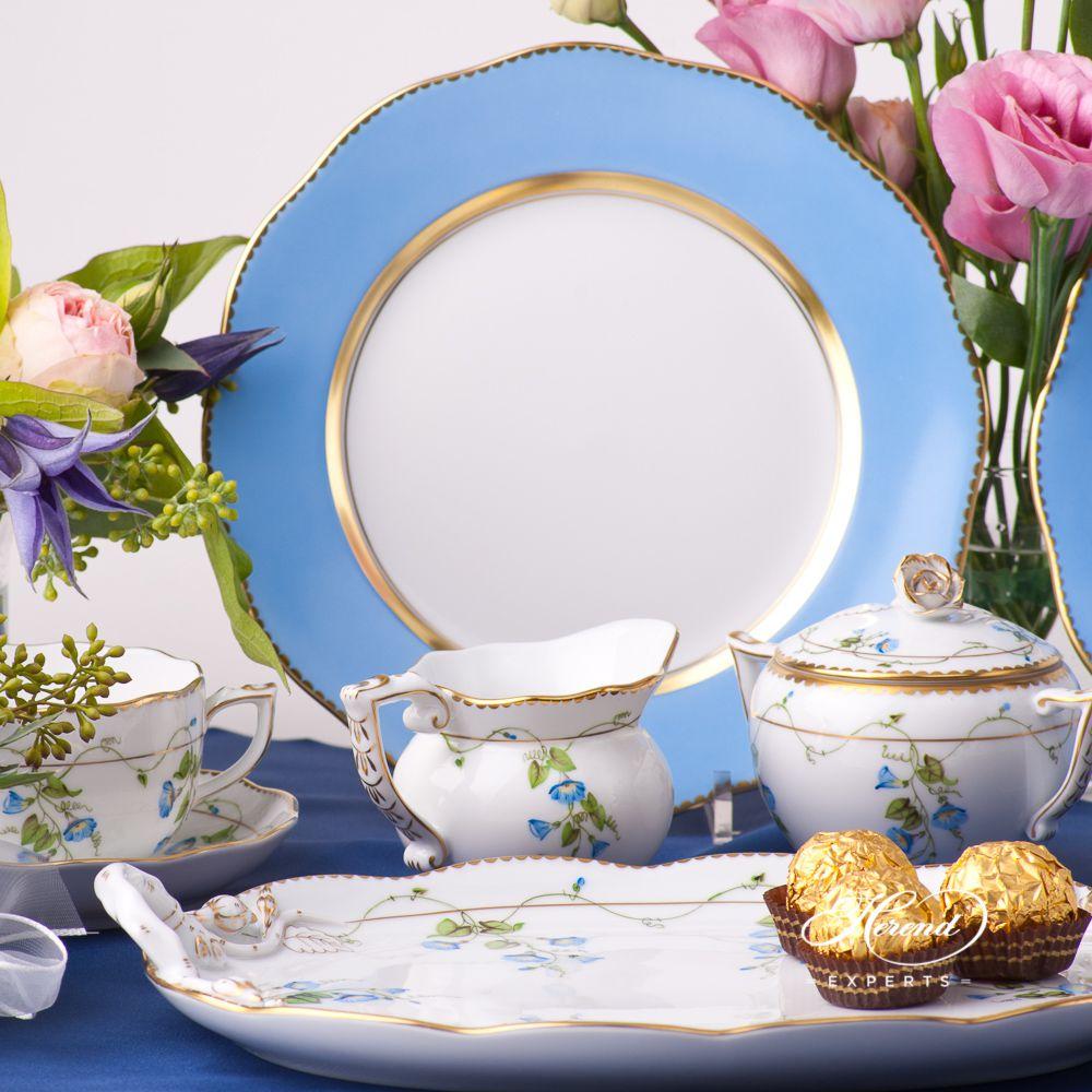 甜点盘 – 蓝色边缘特别款- 赫伦细瓷