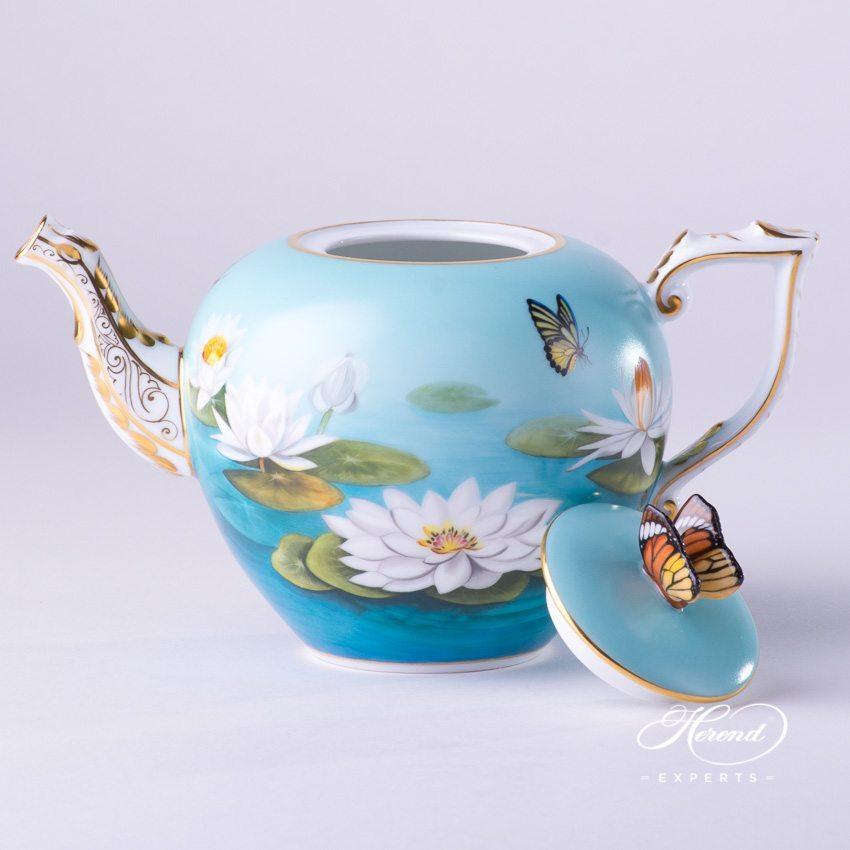 茶壶 – 睡莲 – 赫伦细瓷