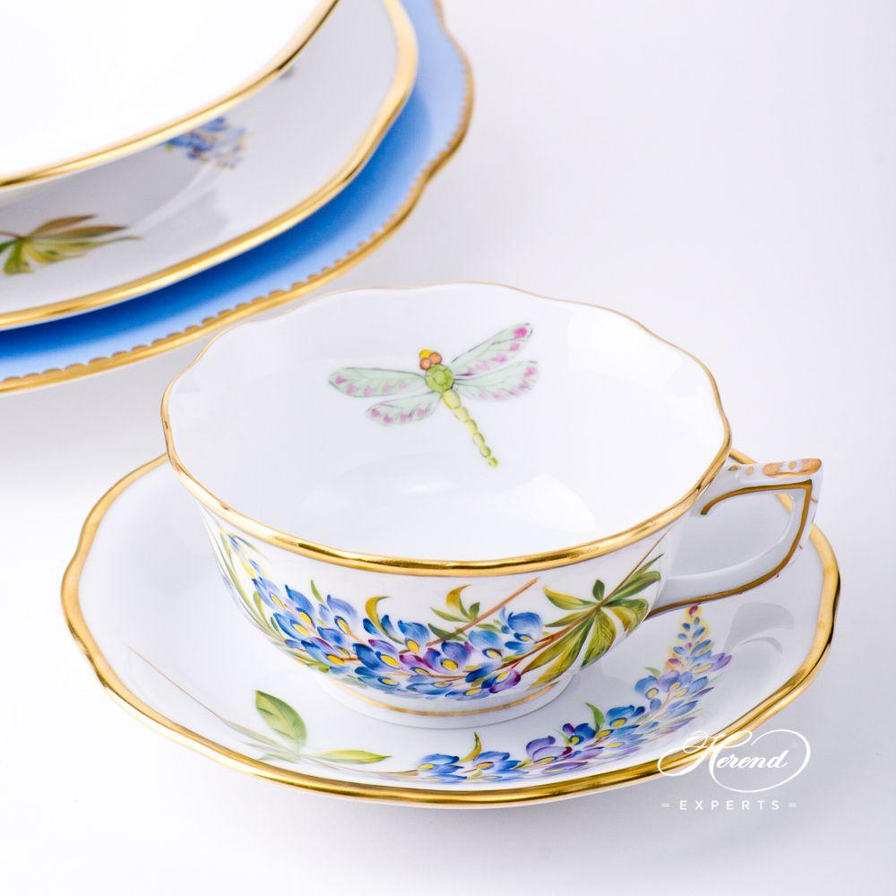 茶杯 – 德州蓝矢车菊 – 赫伦细瓷