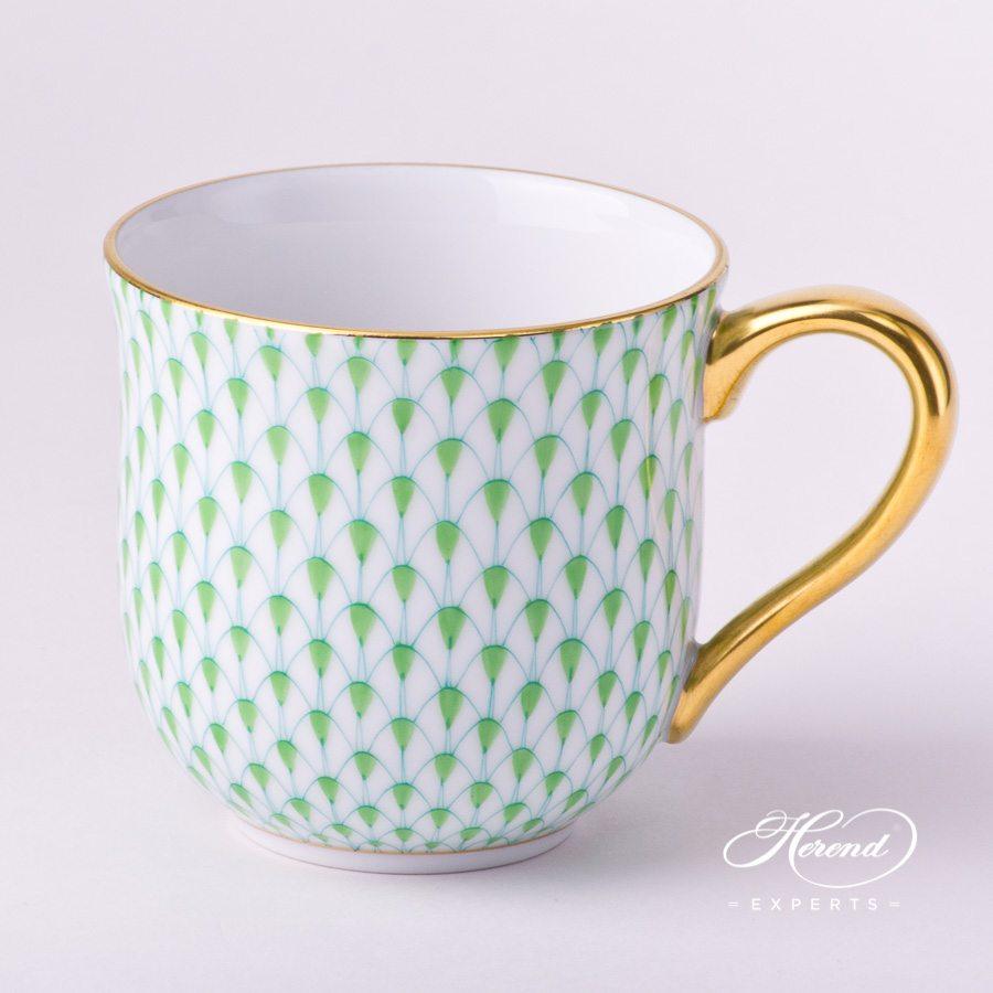 通用杯 – 浅绿色鱼鳞纹 – 赫伦细瓷