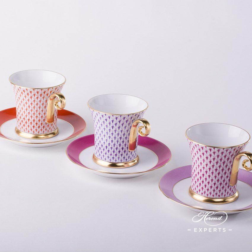 茶杯 – 鱼鳞纹 – 丁香色 – 赫伦细瓷