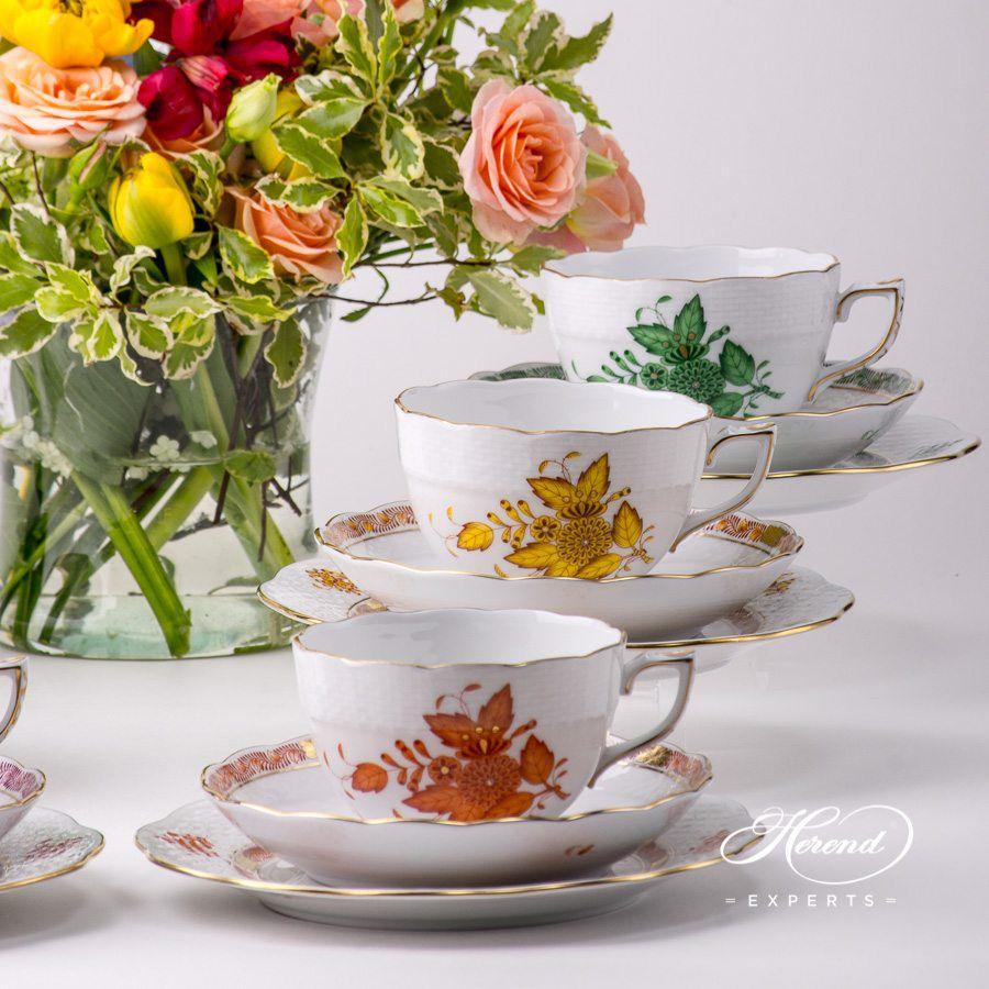 茶杯 – 中国花束 / 阿波尼绿色 – 赫伦细瓷