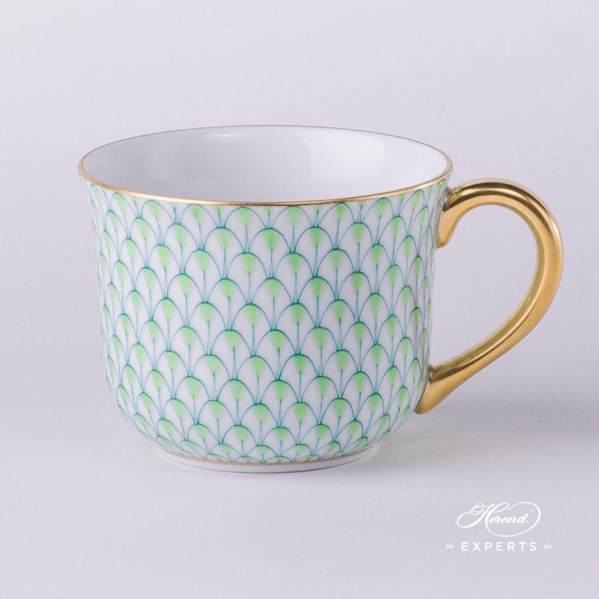 通用杯 – 绿色鱼鳞纹 – 赫伦细瓷