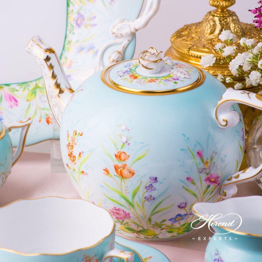 配蛋糕盘茶具套装  双人用 –四季 QS – 赫伦细瓷