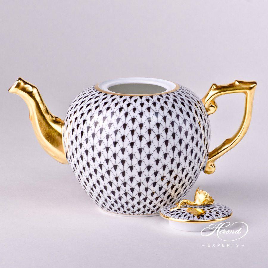 茶壶 – 黑鱼鳞 – 赫伦细瓷