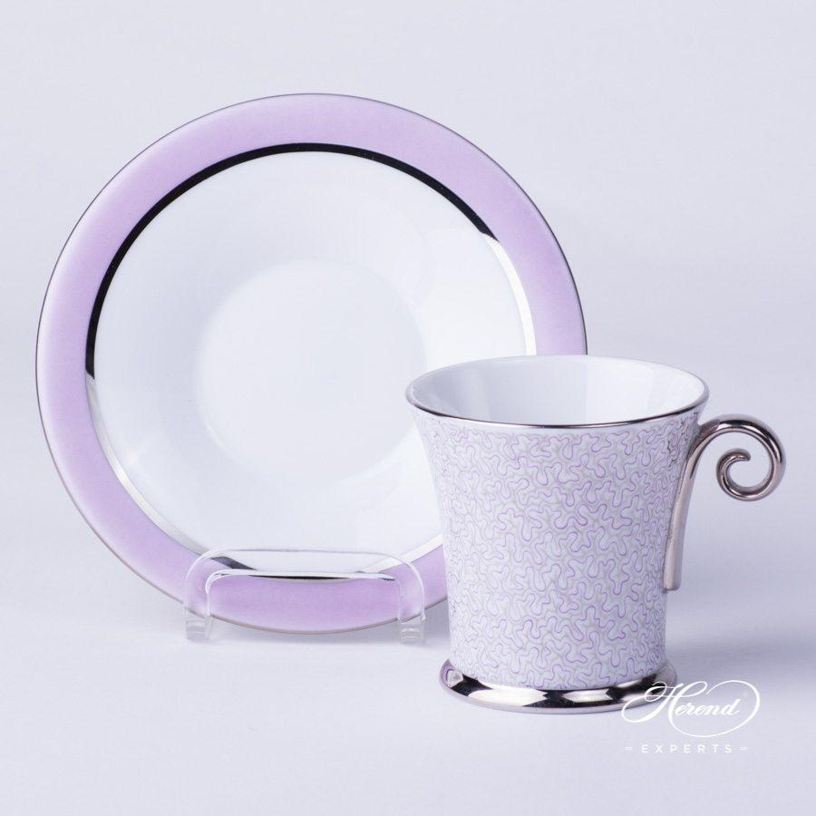 咖啡杯 – 缟玛瑙 丁香色- 赫伦细瓷