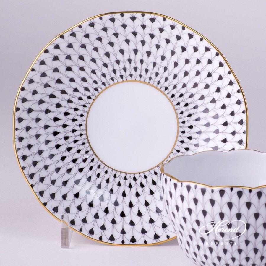 茶杯 – 鱼鳞纹–黑色- 赫伦细瓷