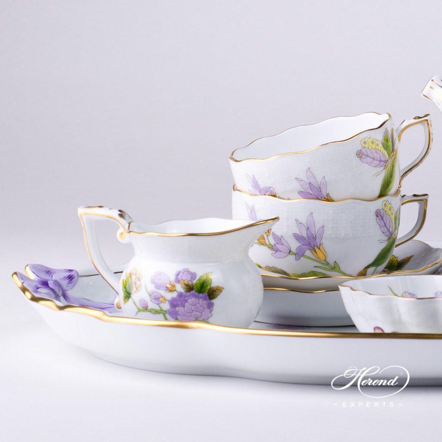 茶具套装 双人用 – 皇家花园(绿色) – 赫伦细瓷