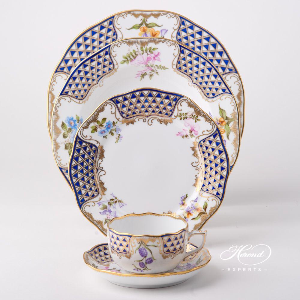 餐位餐具五件套 – 马赛克鲜花 – 赫伦细瓷