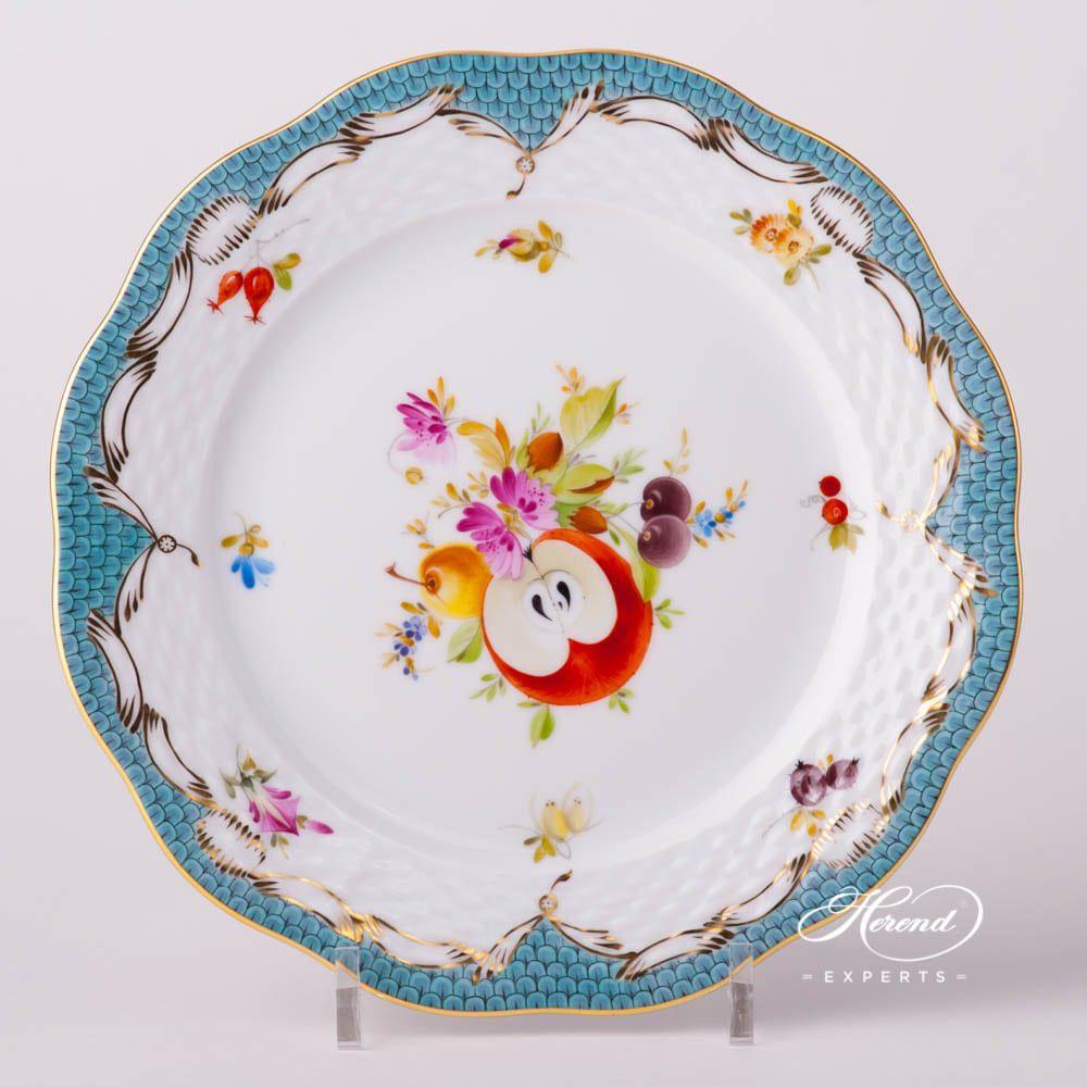 甜点盘 – 带鱼鳞纹的水果图案- 赫伦细瓷