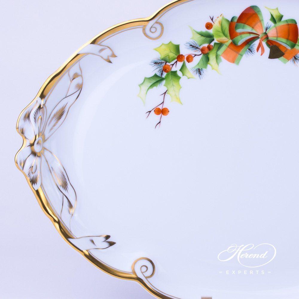 蝴蝶结把手托盘 – 圣诞节 – 赫伦细瓷