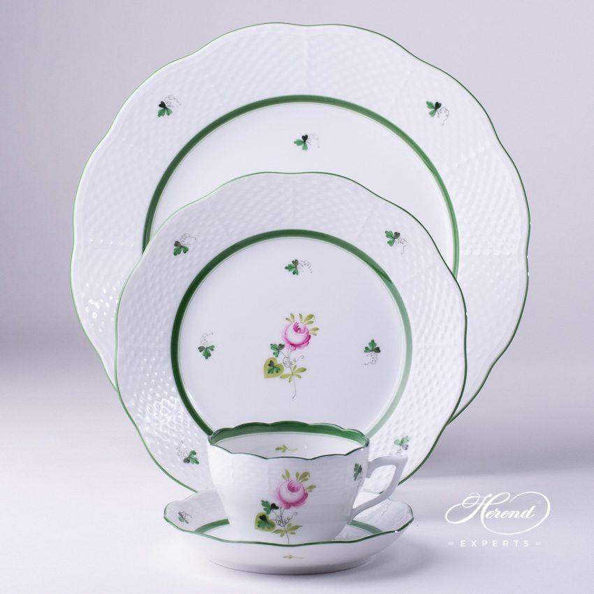 餐位餐具四件套 – / 维也纳玫瑰 – 赫伦细瓷