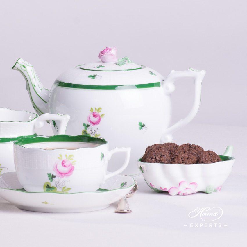 茶具套装 双人用 – 维也纳玫瑰 / 维也纳玫瑰 – 赫伦细瓷