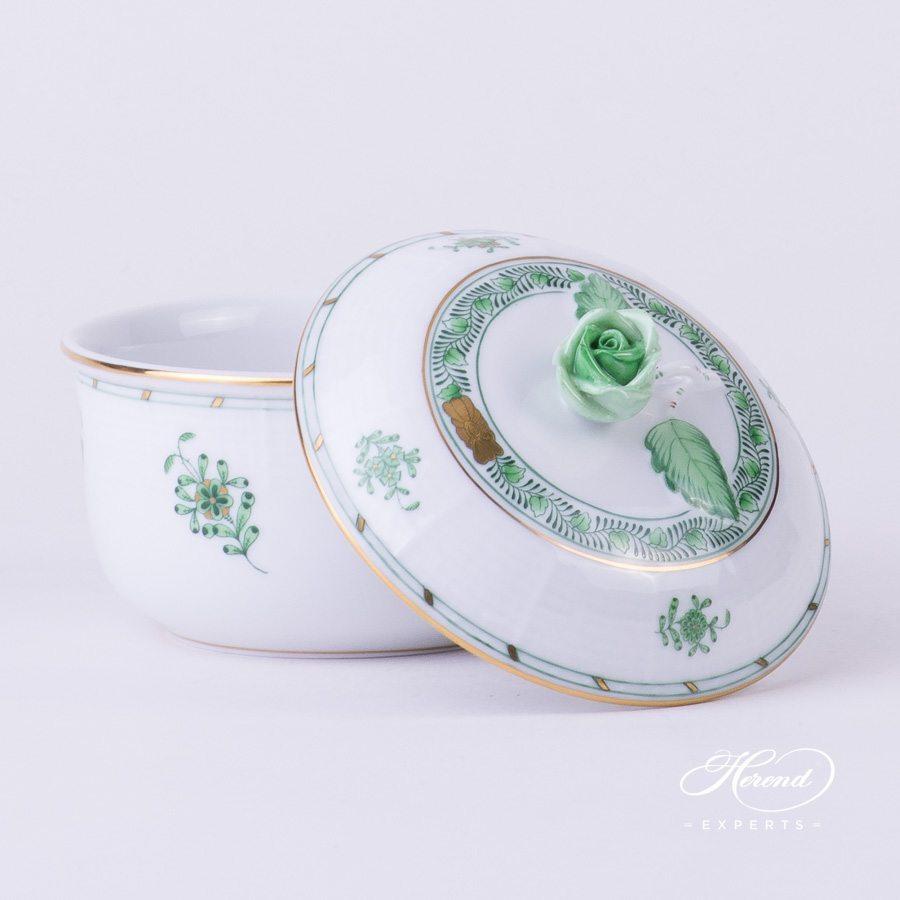 糖罐 – 印度花篮绿色 – 赫伦细瓷