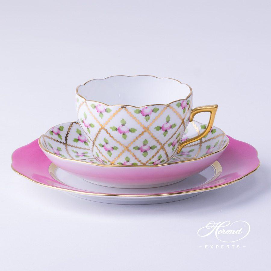 基础茶具套装 – 赛弗勒玫瑰 – 赫伦细瓷