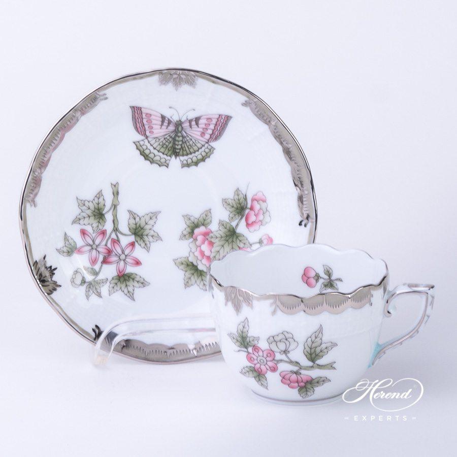 咖啡杯 – 维多利亚女王白金款 – 赫伦细瓷