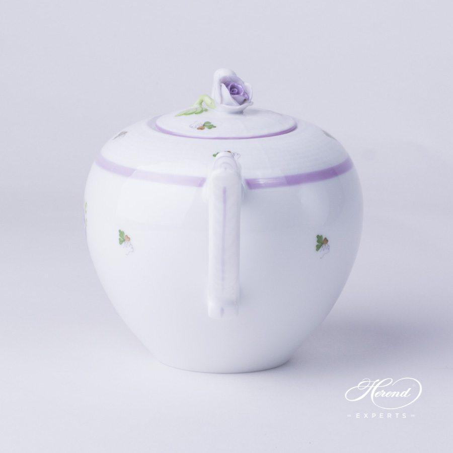 茶壶 – 维也纳玫瑰 / 维也纳玫瑰 丁香色- 赫伦细瓷
