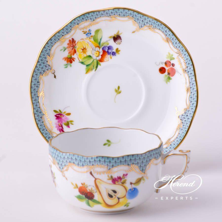 茶杯 – 鱼鳞纹水果 – 赫伦细瓷