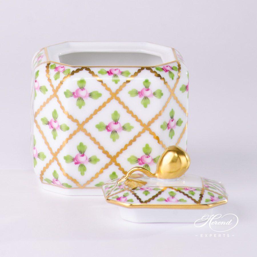 糖罐 – 赛弗勒玫瑰 – 赫伦细瓷