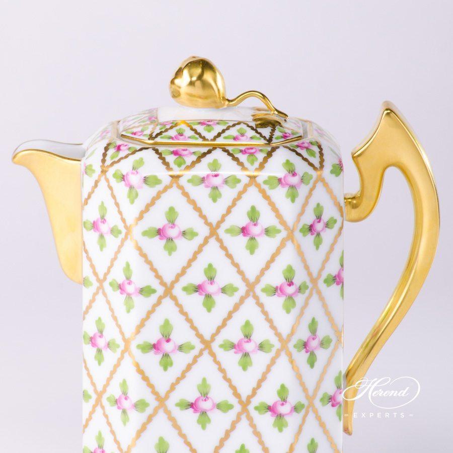 咖啡壶 – 赛弗勒玫瑰 – 赫伦细瓷