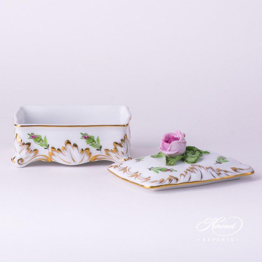 带盖万宝盒 – 小玫瑰花- 赫伦细瓷