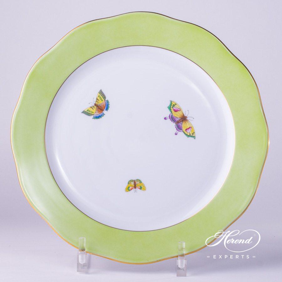 分餐盘 蝴蝶 – 绿边 – 赫伦细瓷