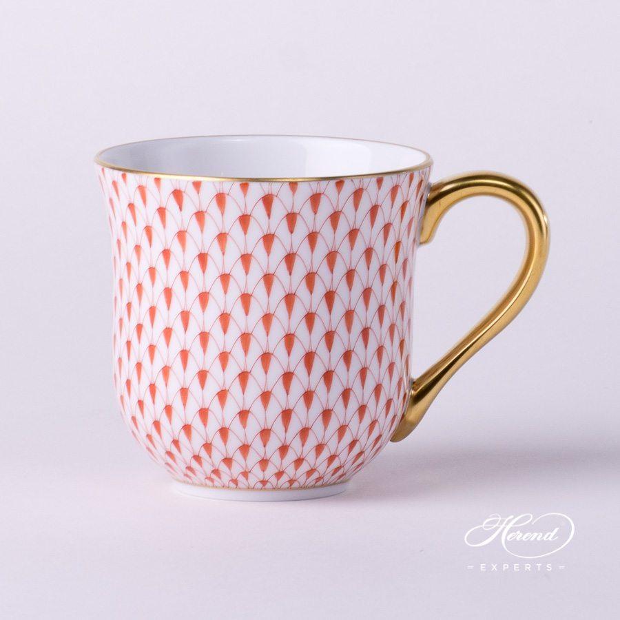通用杯 – 红色鱼鳞纹- 赫伦细瓷