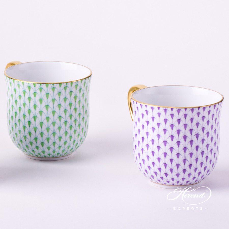 通用杯 –丁香色鱼鳞纹 – 赫伦细瓷
