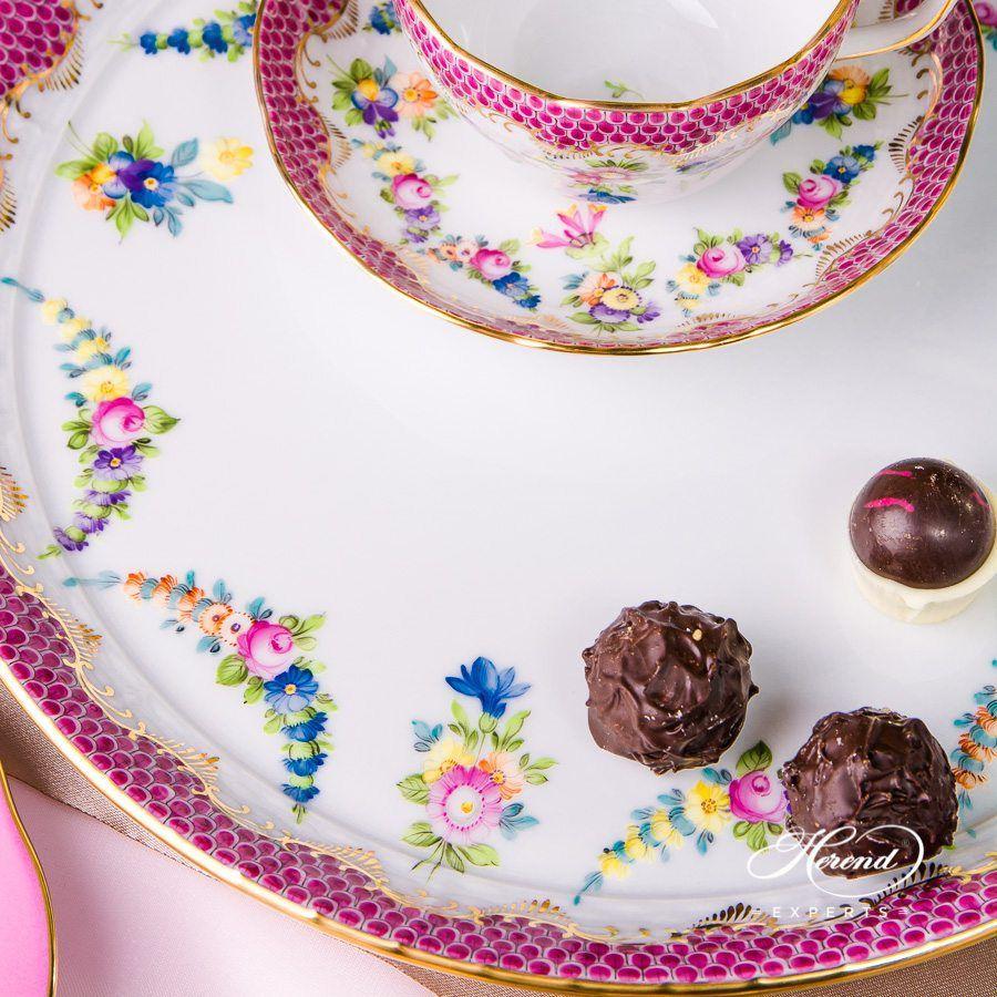 蛋糕盘 – Flower Garland 紫色鱼鳞 – 赫伦细瓷