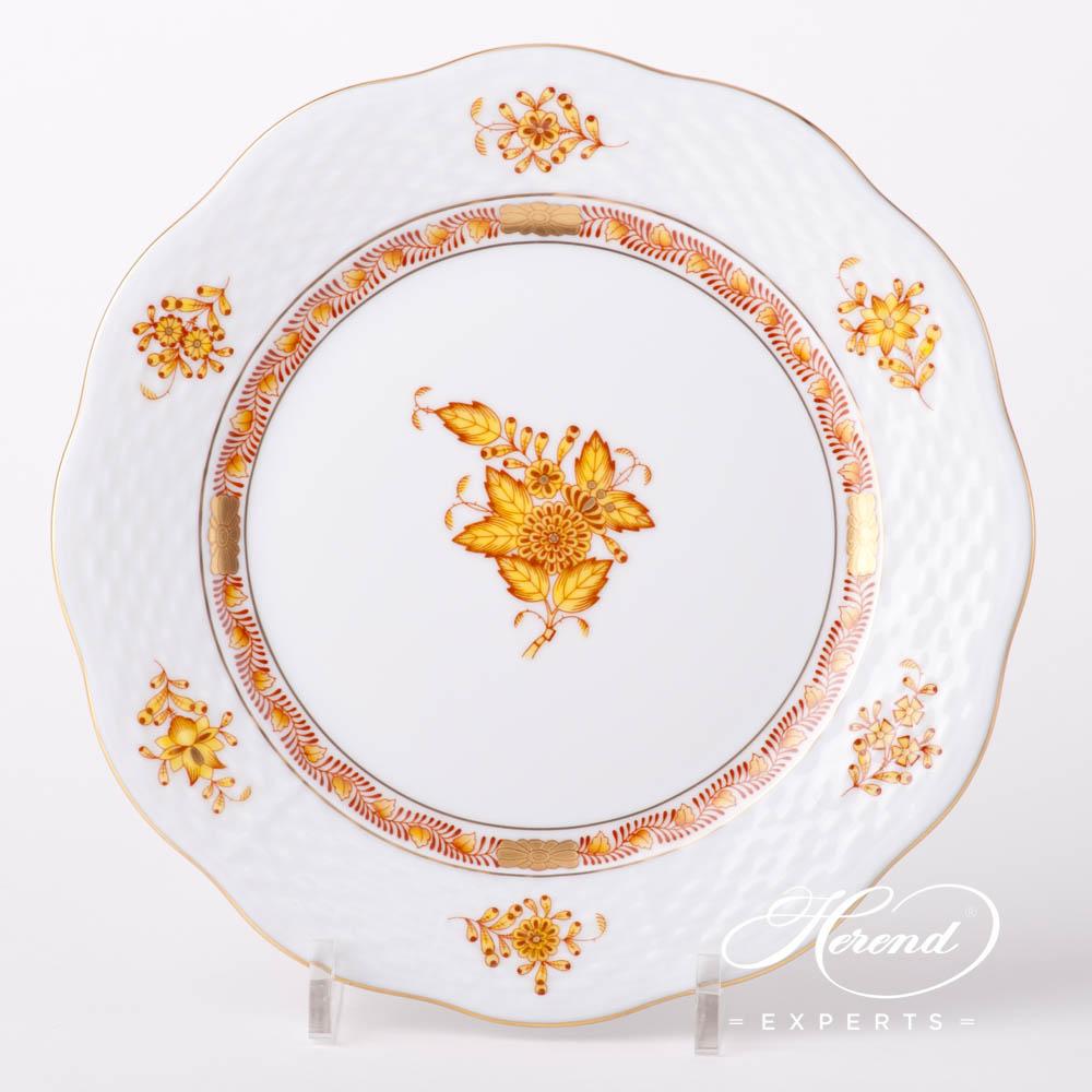 甜点盘 – 中国花束 / 阿波尼黄色 – 赫伦细瓷