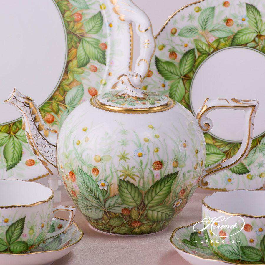 双人份茶具套装 – 草莓- 赫伦细瓷