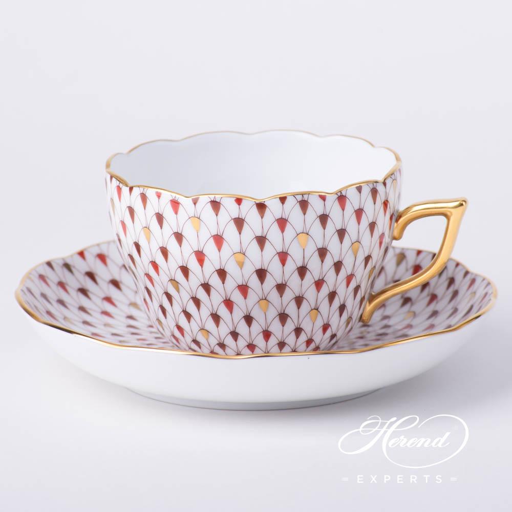 茶杯 / 咖啡杯 –镀金特别鱼鳞纹- 赫伦细瓷