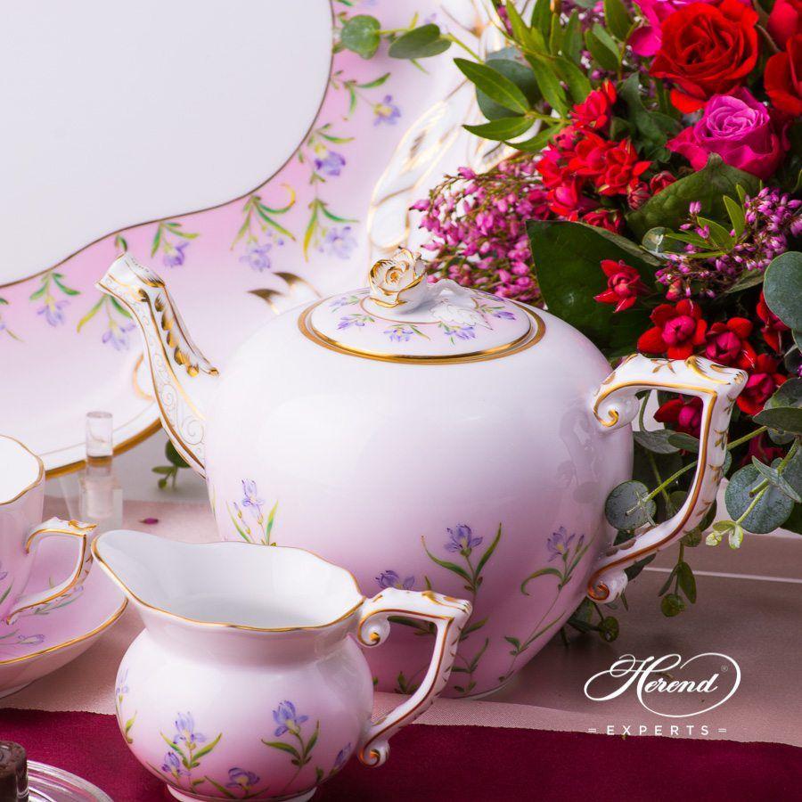 茶壶 – 鸢尾花 – 赫伦细瓷