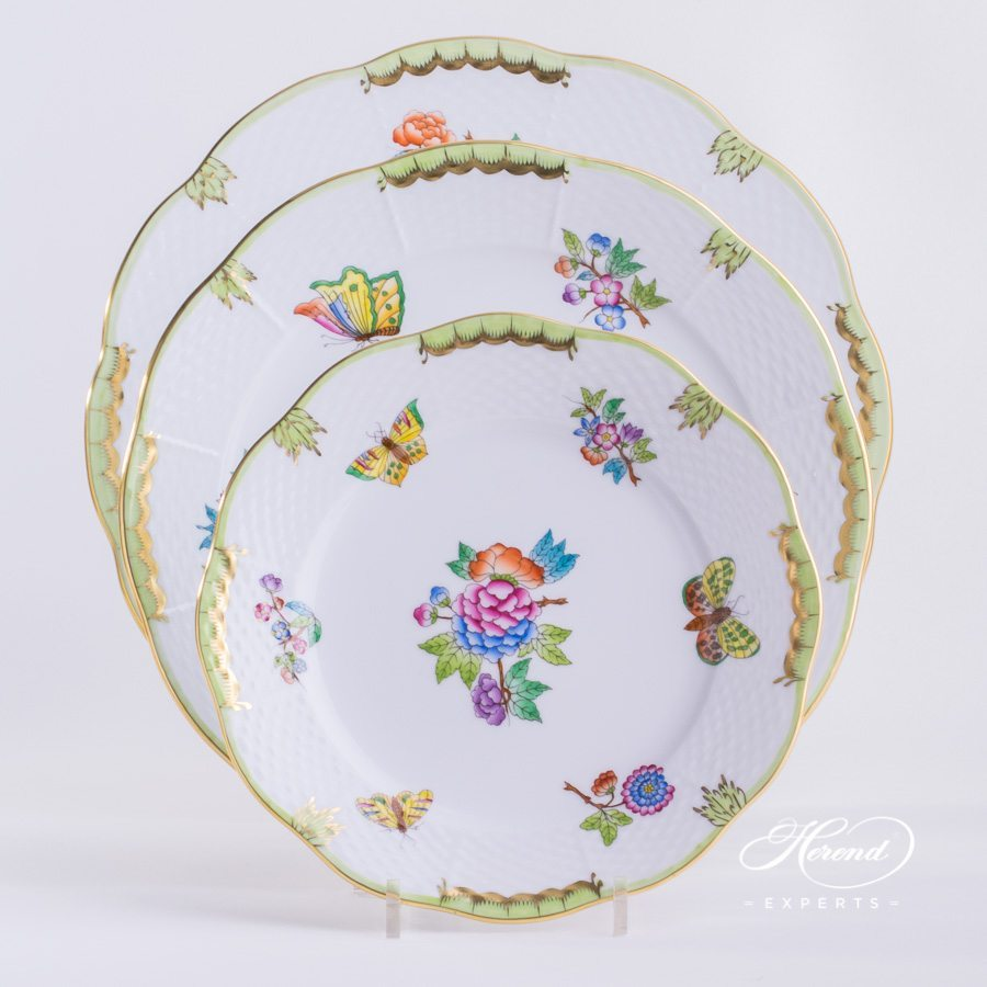 餐位餐具四件 – 维多利亚女王VBA – 赫伦细瓷