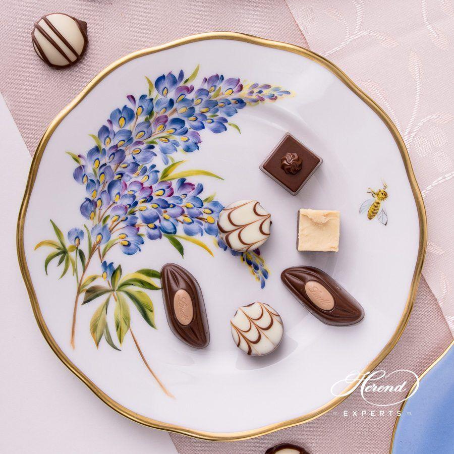 甜点盘 – 德州蓝矢车菊 – 赫伦细瓷