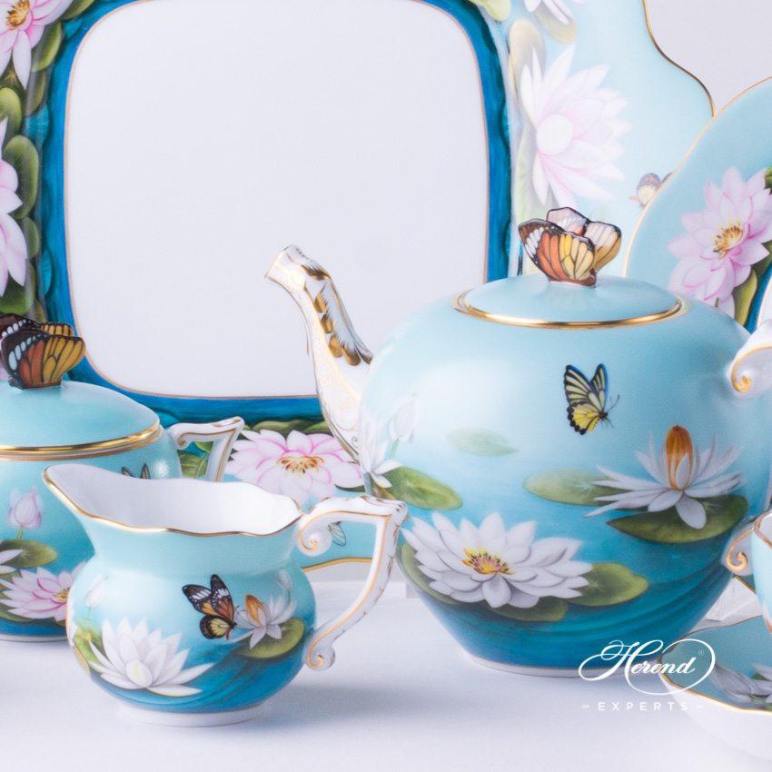 蛋糕盘 – 睡莲- 赫伦细瓷