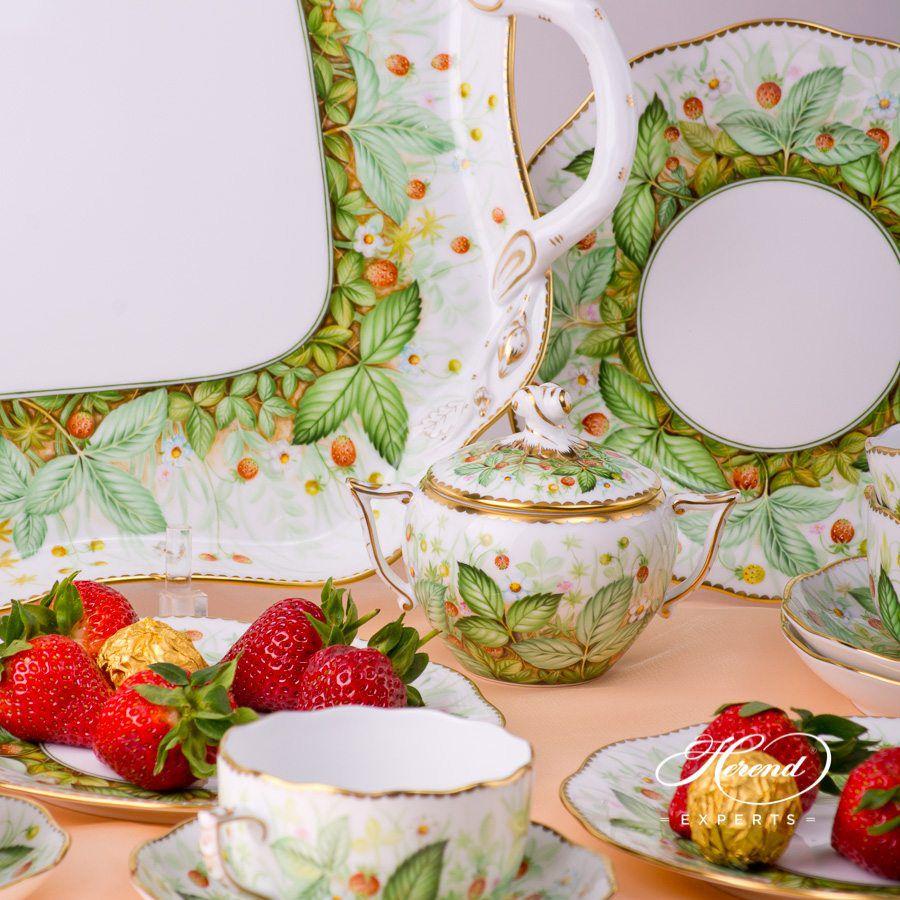 四人份茶具套装 – 草莓- 赫伦细瓷