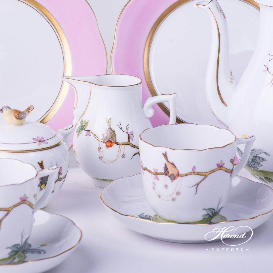 咖啡套装 四人份 – 梦幻花园- 赫伦细瓷
