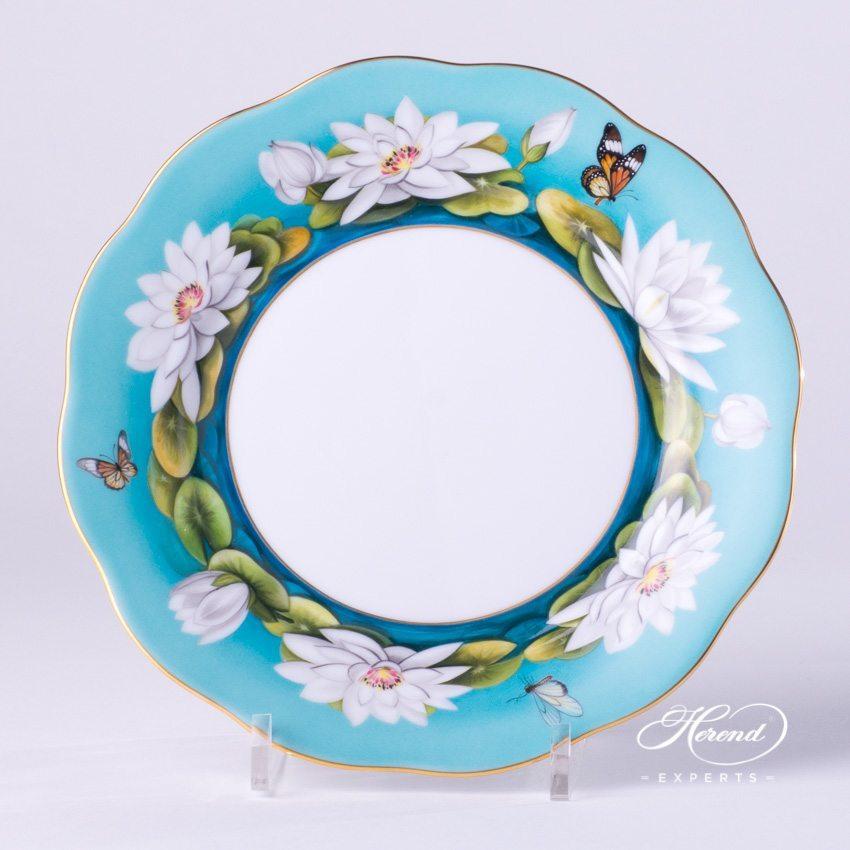 甜点盘 – 睡莲 – 赫伦细瓷