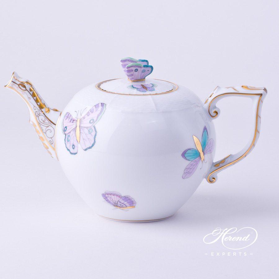 茶壶 – 皇家花园绿松石 – 赫伦细瓷
