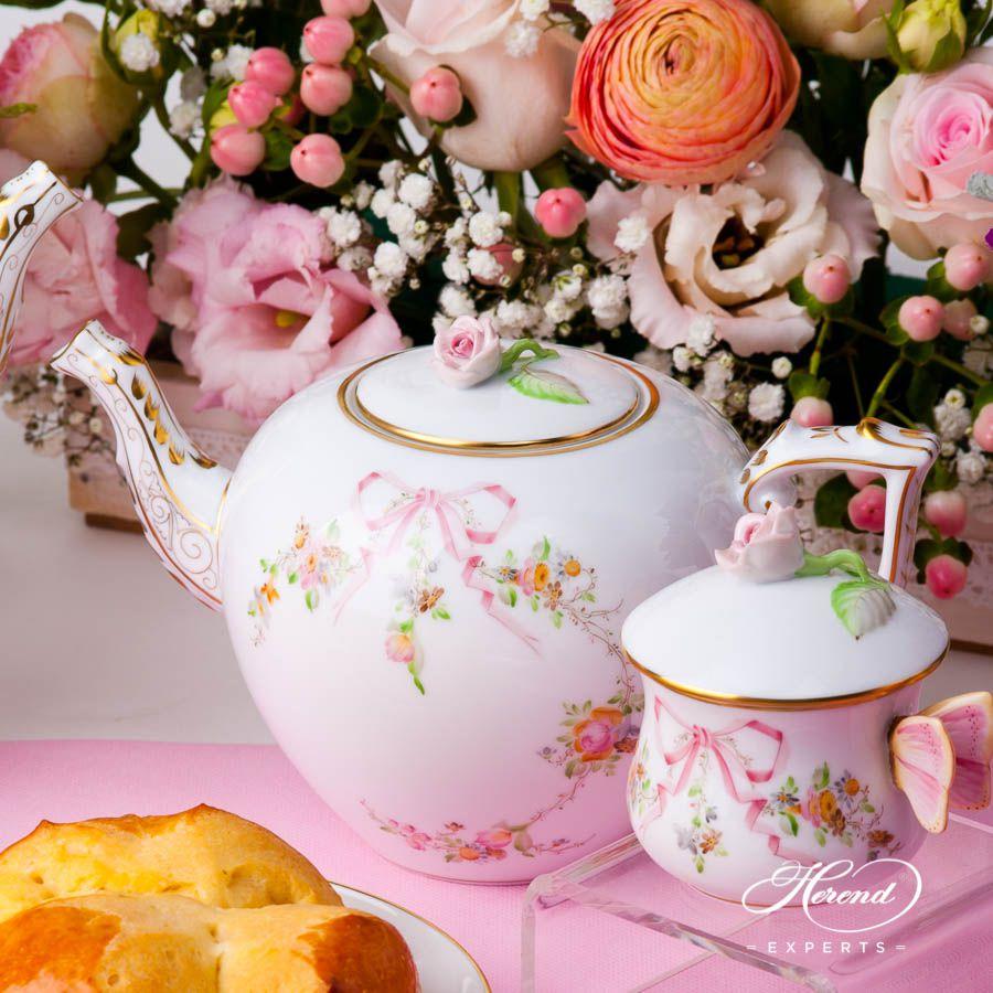 茶壶 – 伊甸园(粉色) – 赫伦细瓷