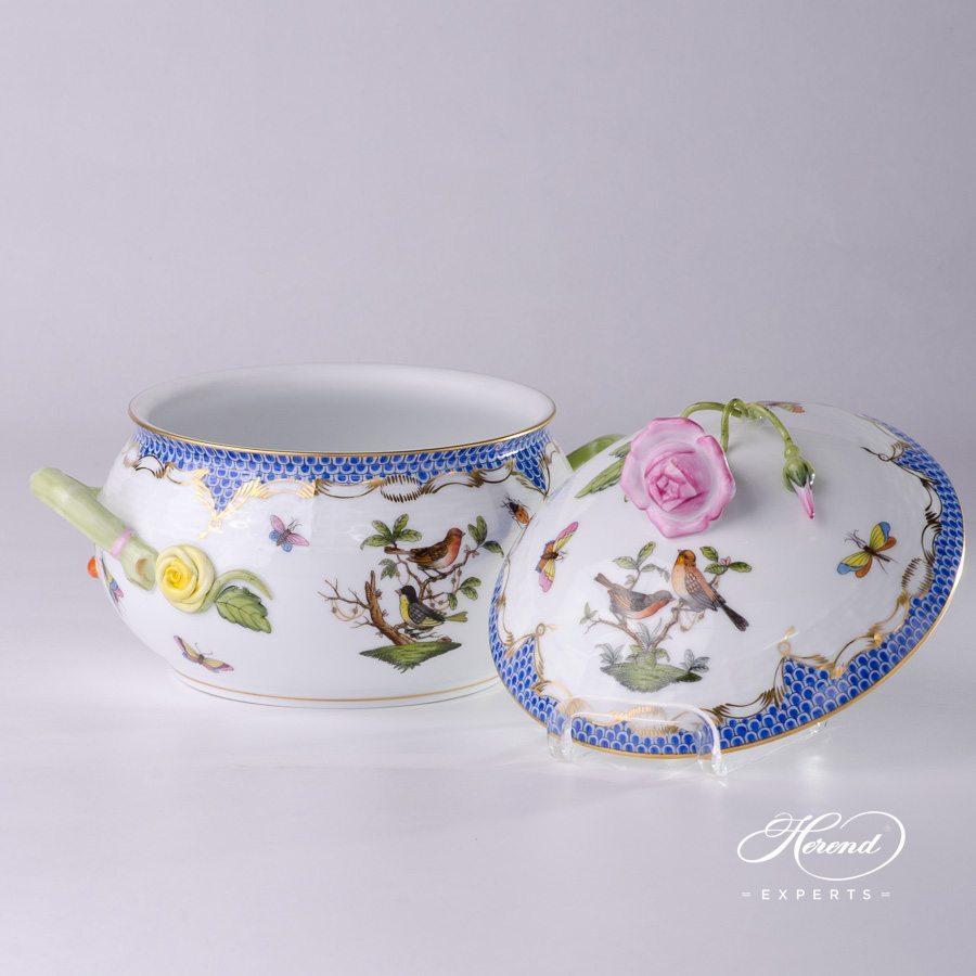 汤碗 – 罗丝柴尔德鸟 蓝色鱼鳞纹- 赫伦细瓷