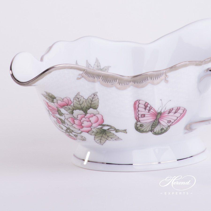 船型酱料碗配 椭圆盘 – 维多利亚女王白金款 – 赫伦细瓷