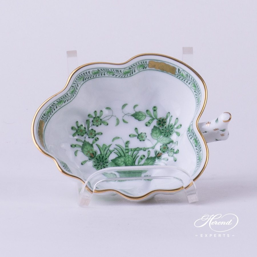 糖罐 – 印度花篮绿色- 赫伦细瓷