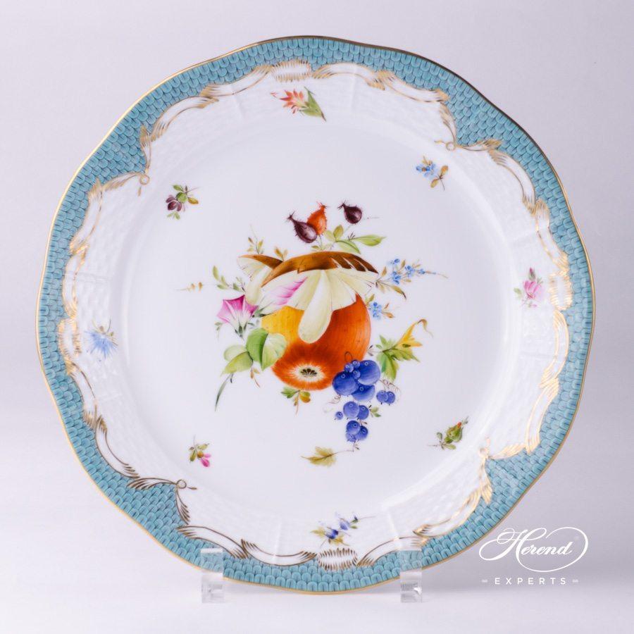 餐盘–绿松石色鱼鳞纹水果 – 赫伦细瓷